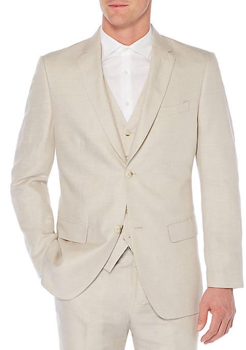 Linen Cotton Herringbone Jacket