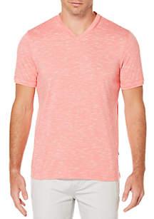Marled Slub V-Neck Shirt