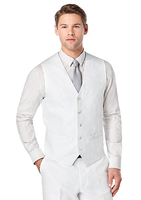 Perry Ellis® Linen Suit Vest