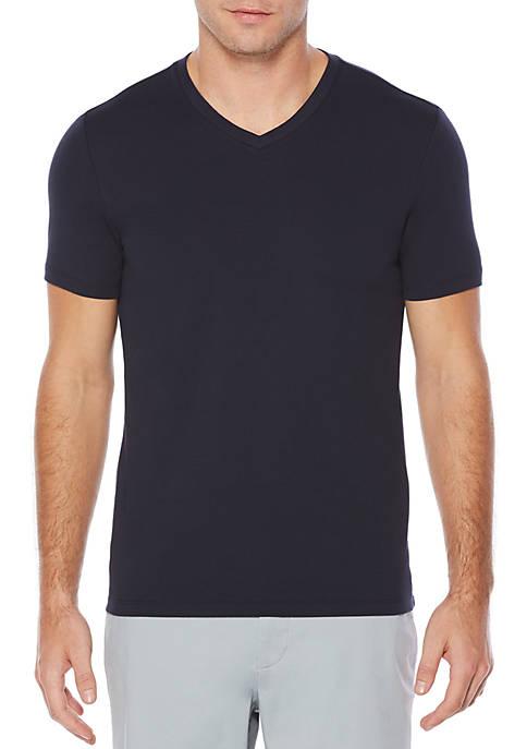 Perry Ellis® Stretch Pima V-Neck Tee Shirt