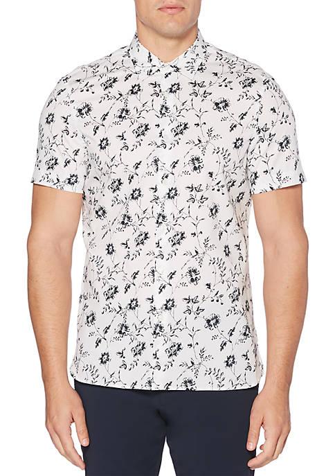 Perry Ellis® Short Sleeve Floral Print Woven Shirt