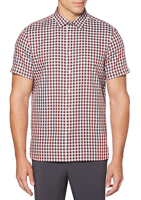Perry Ellis® Herringbone Gingham Shirt