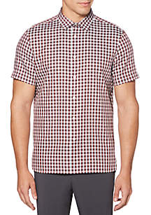 Perry Ellis® Herringbone Gingham Shirt