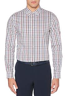 Perry Ellis® Long Sleeve Plaid Button Down Shirt