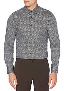 Long Sleeve Print Straight Fit Shirt