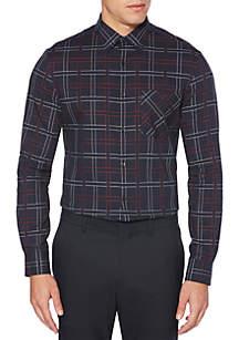 Perry Ellis® Long Sleeve Plaid Dobby Shirt