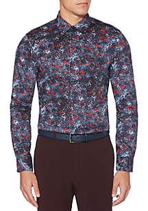 Printed Button Down Shirt
