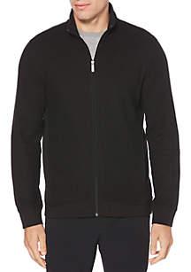 Long Sleeve Knit Full Zip Jacket