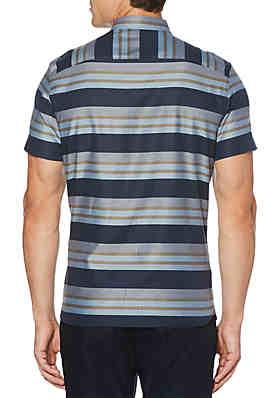 7280497228 ... Perry Ellis® Short Sleeve Multi Strip Button Down Shirt