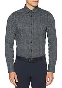 Perry Ellis® Long Sleeve Slim Shirt