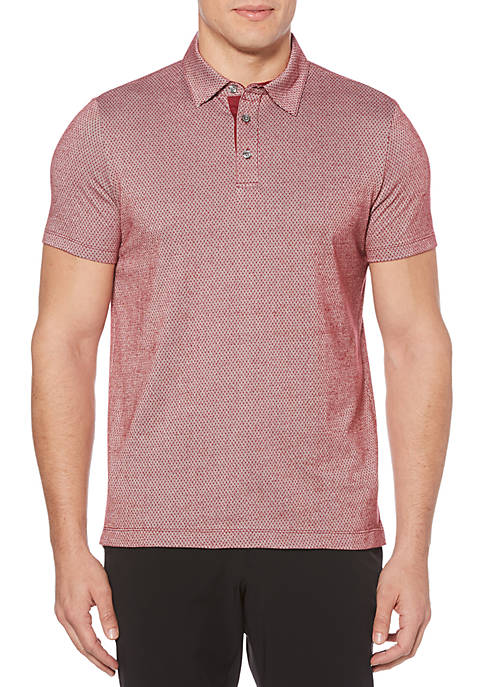 Perry Ellis® Dotted Stripe Jacquard Polo