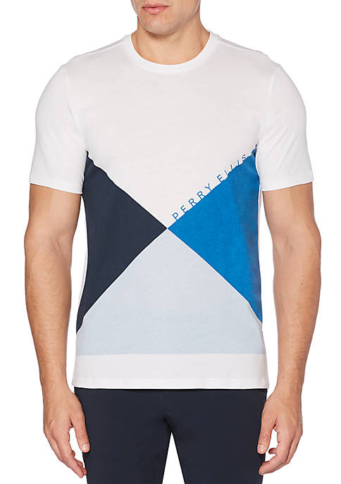 Perry Ellis® Short Sleeve Graphic Print Logo Shirt