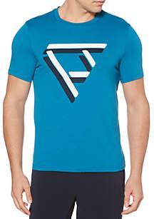 Short Sleeve Geo Print Tee Shirt