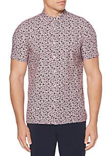 Short Sleeve Abstract Floral Shirt