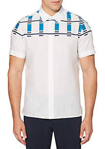Short Sleeve Abstract Print Pop Shirt