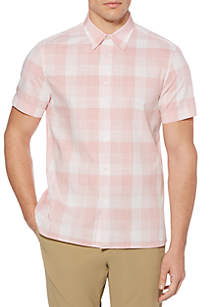 Short Sleeve Yarn Dyed Slub Shirt