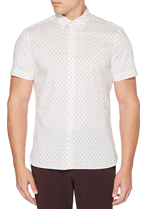Perry Ellis® Mini Geo Print Shirt