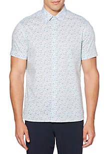 Short Sleeve Print Paisley Shirt