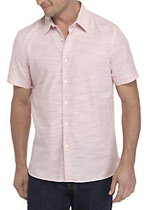 Short Sleeve Tex Button Down Shirt