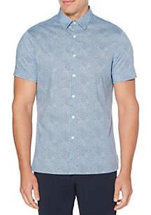 Perry Ellis® Short Sleeve Mini Geo Print Shirt