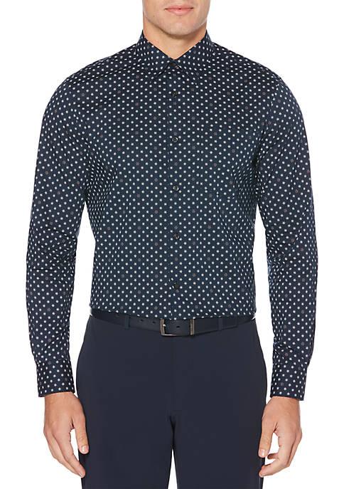 Perry Ellis® Long Sleeve Mini Foulard Woven Shirt
