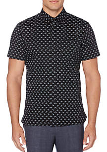 Perry Ellis® Short Sleeve Screw Print Woven Shirt