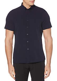 Perry Ellis® Seersucker Stretch Short Sleeve Button Down Shirt