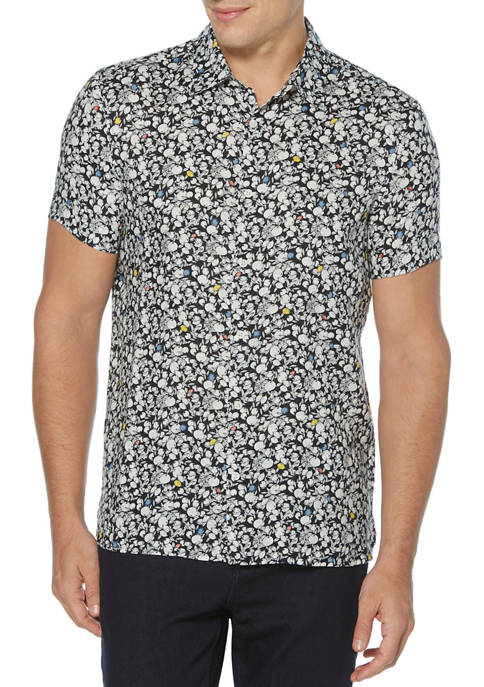 Perry Ellis® Mens Fruit Print Linen Short Sleeve