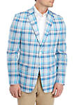 Blue and Pink Plaid Sportcoat
