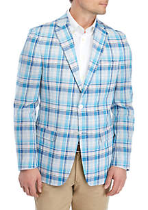 IZOD Blue and Pink Plaid Sportcoat