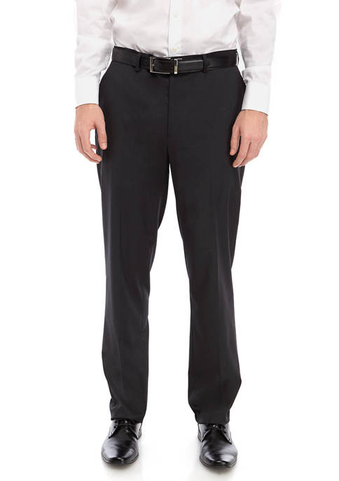 IZOD Mens Charcoal Suit Separate Pants