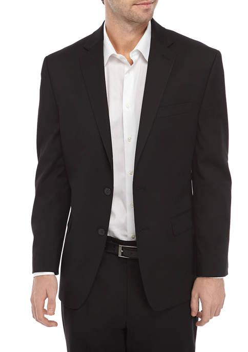 IZOD Mens Black Suit Separate Coat