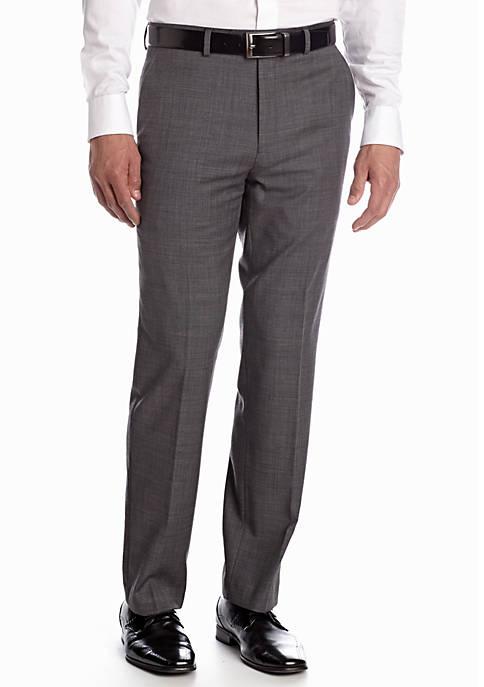Classic Fit Flat Front Sharkskin Suit Separate Pants