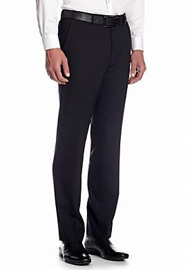 Classic Fit Black Herringbone Suit Separate Pants