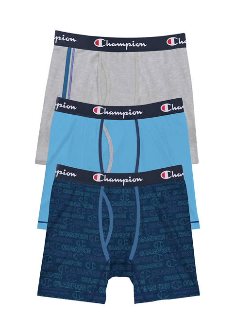 Champion® Logo Cotton Stretch Boxer Briefs