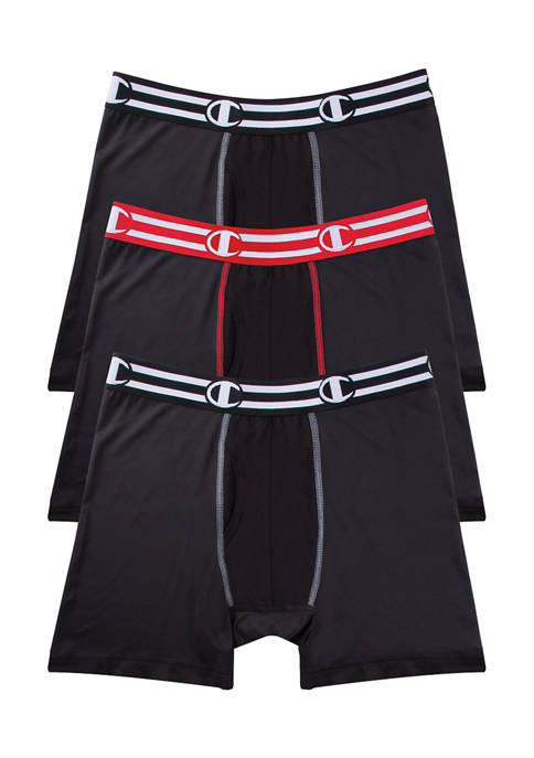 Champion® 3 Pack of Performance Boxer Briefs
