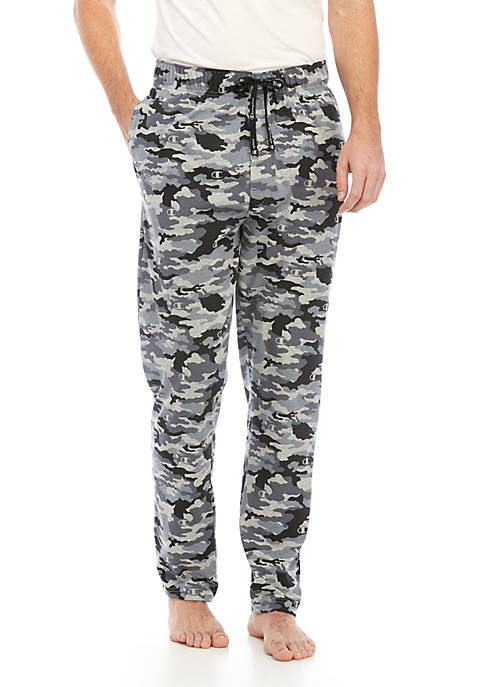 Camo Print Knit Pajama Pants