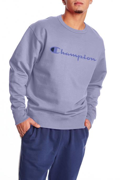 Champion® Powerblend Fleece Graphic Crew Neck Pullover