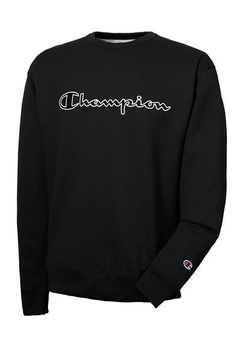 Powerblend Applique Crew Neck Sweatshirt