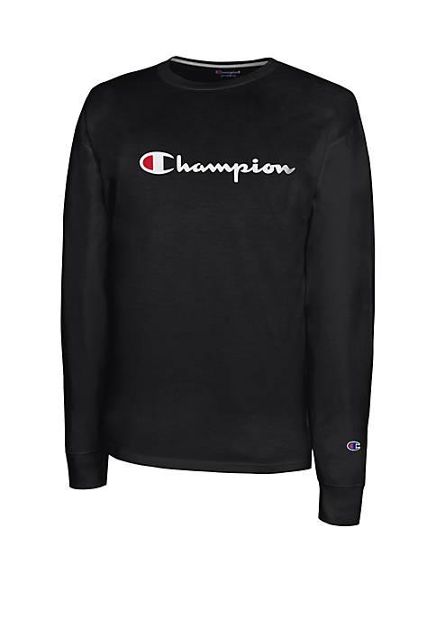 Champion® Long Sleeve Graphic Logo T Shirt