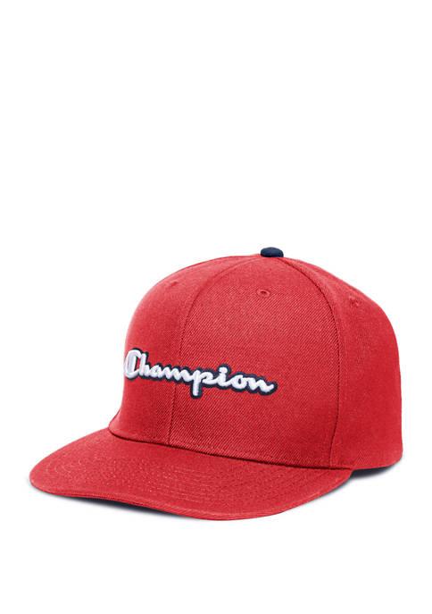 Champion® C Life Baseball Script Flat Bill Snapback