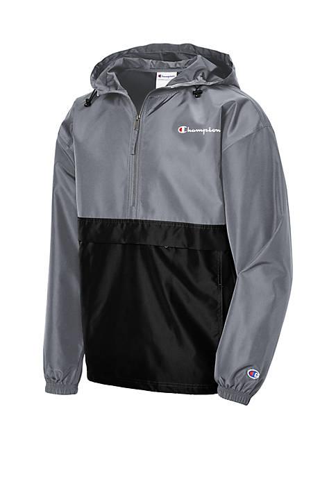 Champion® Packable Color Block Pullover Windbreaker Jacket