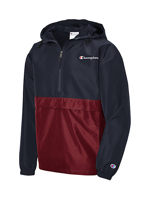 Champion® Packable Color Block Pullover Windbreaker Jacket
