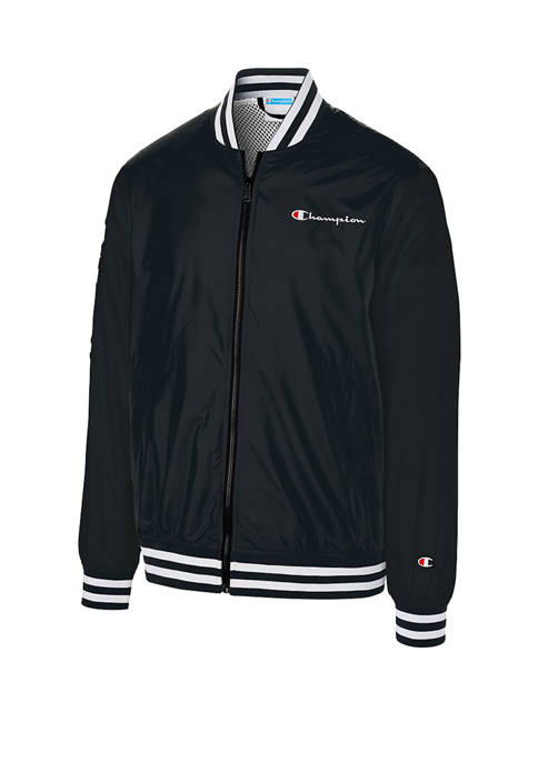 Champion® Satin Baseball Jacket