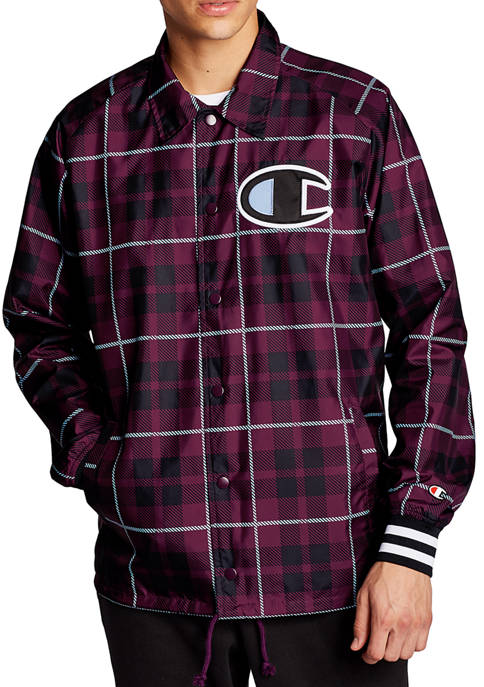 Mens Coaches Print Jacket with Ribbed Cuff