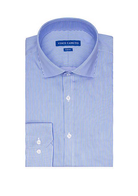 Blue Pinstripe Button Down Shirt