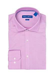Slim Stretch Rose Mini Diamond Dobby Dress Shirt