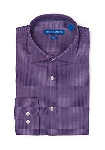 Slim Stretch Grape Dobby Dress Shirt