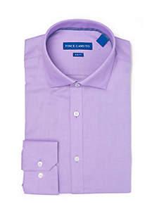 Slim Stretch Grape Mini Dobby Dress Shirt