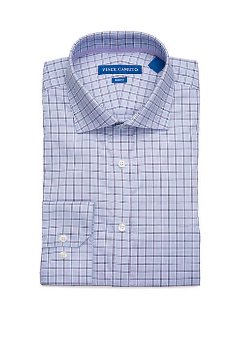Mens Light Blue Plaid Shirt